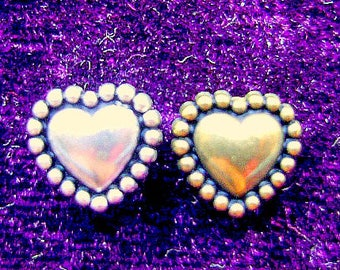 BEAD, METALIZED, PLASTIC, Heart, Silver, Gold, Antiqued,  Earring, 10 or 4MM, Finding