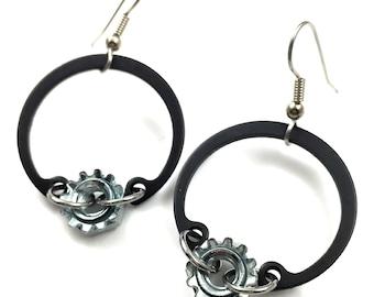 Dangle Earrings Hoops Steampunk Hardware Jewelry Drop Earrings
