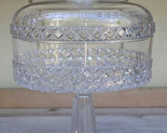 Clear Glass Compote with Lid