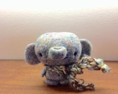 One Of a Kind Needlefelted Gray Baby Elephant
