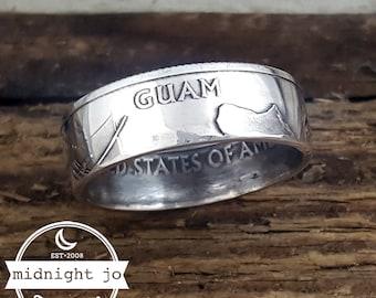 Guam Coin Ring 90% Silver Quarter
