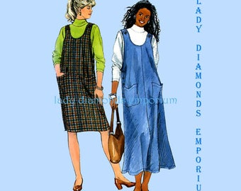 Simplicity 7859 Womens Straight or Flared Jumper & Top Plus Size 18W 20W 22W 24W OR 26W 28W 30W 32W Vintage Sewing Pattern Uncut FF