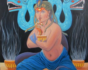 The Priestess and the Plumed Serpent- Medusa