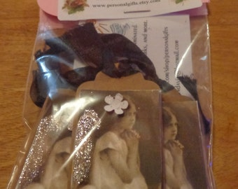 3D Mini image tags with ribbon or without then packed and mailed to you