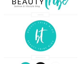 Teal Logo Blog Logo Photography Logo Photography Watermark Logo Stamp Blogger Logo Design Branding Package Lash Logo Makeup Artist Logo