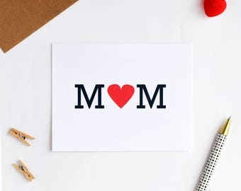 mother's day card // heart MOM card // mothers day card // mothers day greeting cards // happy mothers day //
