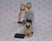 Bride & Groom Custom Made Wedding Cake Topper - reserved for amielenkowiec