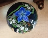 Vintage Starflower Glass Paperweight