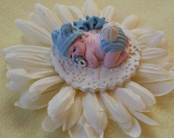 Baby Boy Cake Topper, Baby Shower Favor, Baby Ornament