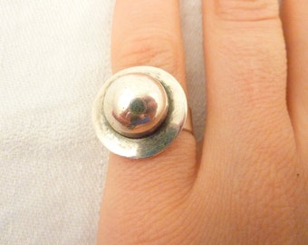 Vintage Sterling Silver Mexican Ring Size 6