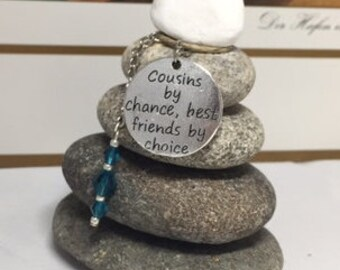 Cousin Rock Cairn, Encourage, Support, Cousin, Zen Garden, Desk Gift, Best Friends, BFF, Bestie, Cousin, Inspirational, Forever Friends
