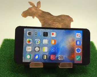 Female Moose Cell Phone Holder, Moose Cow Cell Phone Stand, Cell Phone Charger Moose Lover Gifts items for Moose Decorations, Business Card