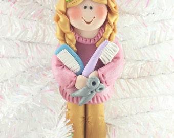 Gift for Hairdresser - Hairdresser Christmas Ornament - Beautician Christmas Ornament - Beautician Gift - Salon Christmas Ornament - 1116