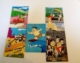 1987 Flintstones Postcards Set Of 5 All Different From Hanna Barbara Productions Never Used Good Condition