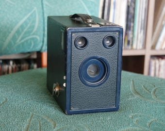 Blue 1930's Kodak Six-16 Target Hawkeye Camera