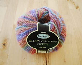 Bulky Yarn - Sensations Bellezza Collection Cosetta Wool Blend Yarn - Multicolored Rainbow