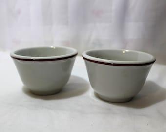 Set of 2 Sterling Vitrified China Ramekins, Custard Cups