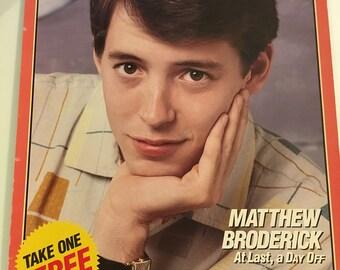 Moviegoer magazine poster Matthew Broderick August 1986