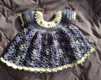 Violet Crocheted Infant Dress 0-6 months