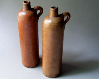 Antique Salt Glazed Stoneware Ober-Selters Nassau Mineral Water Bottle #1 / Germany 19th Century