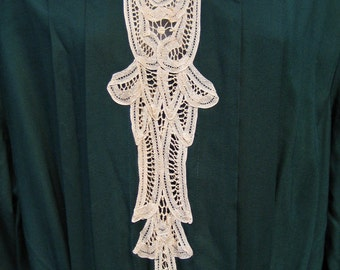 Gift It size 14 NEVER Worn, Like New with Tags, store tags, LNWT, nwt dress, green dress, 1980s Victorian dress gown look