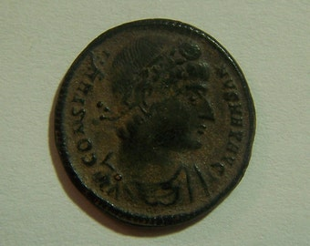 Authentic Ancient Roman Coin Of Constantine I, the Great 307-337 A.D.  Reverse; Two Soldiers With Standards