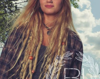 Knotty dreads etsy 10 gold blonde synthetic dreads dreadlocks dreads synthetic dreadlocks dreadlock extensions pmusecretfo Images