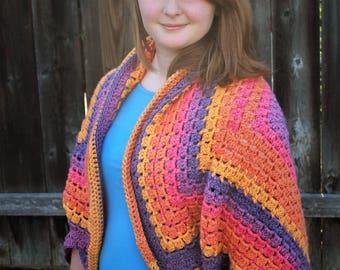 Funfetti Crochet Shrug