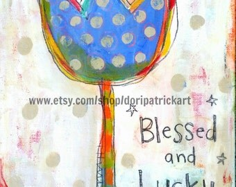 Blessed and Lucky Tulip 8x10 print