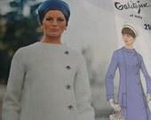 GALITZINE Designer Vogue Couturier Design Pattern 2147 * UNCUT *  A-line Coat dress w/Side Button Closing // Size 12, bust 34