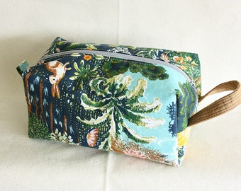 Forest medium toiletry bag/ pouch/ travel kit/project pouch - ready