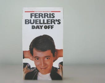 Ferris Bueller's Day Off - 1980's John Hughes Film, Classic 80s Movie on Vintage VHS Tape - Father's Day Gift for Men, 80s Dad Movie