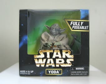 "Yoda Action Figure, Star Wars Doll - 1997 Kenner Star Wars 6"" Star Wars Figure in Original Box - Star Wars Toy, Empire Strikes Back"