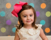 """Pick 5 -- Our Biggest Hair Bow - The Ultimate Supreme 3"""" Ribbon ~ Texas Size 6 inch Bow - Easter m2m Matilda Jane The Adventure Begins - BIG"""