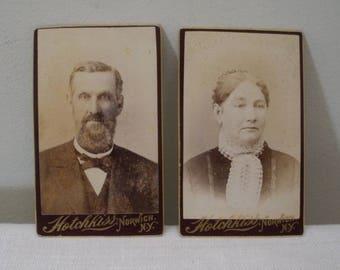 Antique Pair Cartes-de-visite Photo - Hotchkiss NY