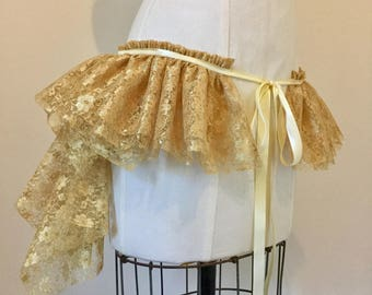 Gold lace bustle, burlesque, festival, circus, costume, other colours,