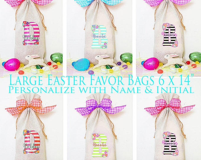 Easter Party Favor, 6 Party favor bag, candy bag, party favor, Easter Sunday Gift Bag, Teacher Gift, Hostess Gift, Easter party Favor bag