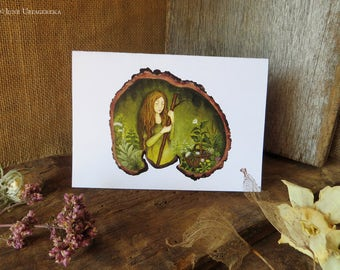 The Herbalist - Greeting Card with Envelope