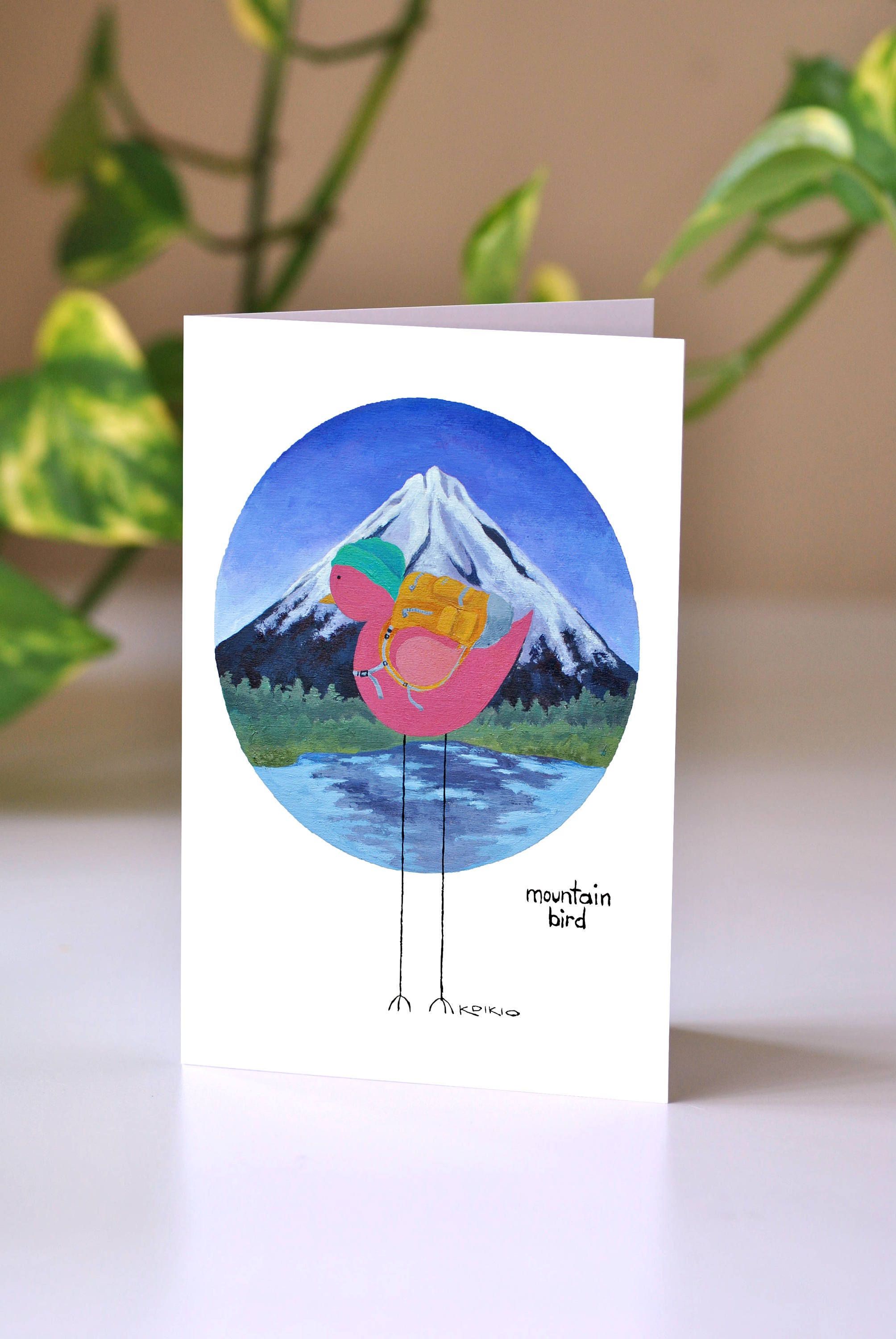 Mountain Bird Greeting Card Outdoorsy Card Birthday Card for