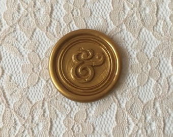 Ampersand Peel  and Stick Flexible Wax Seals, 1.2 Inches in Size with One Inch Adhesive