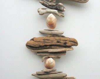 Driftwood Mobile With Shells-DC1213