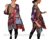 SunHeart Goddess Pieced Top Jacket Dress Nothing-Matches Boho HIppie Chic Resort Wear one size Sml Med Large xl 1x 2x
