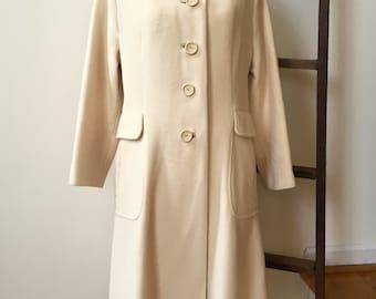 White cashmere coat | Etsy