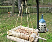 Wine Cork Bird Feeder - Bird Lovers, Outdoor Yard Decor