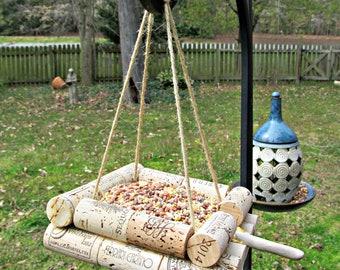 Wine Cork Bird Feeder - Bird Lovers, Outdoor Yard Decor