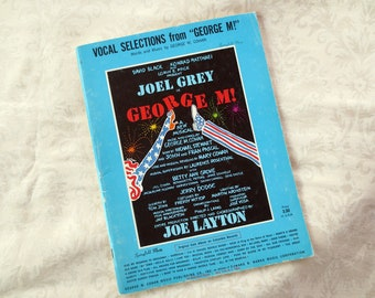 1968 George M Cohan Vocal Selections, Sheet Music Book from the Musical George M, Vintage Broadway