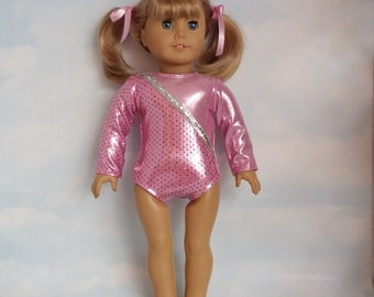 18 inch doll clothes - #121 Light Pink Leotard handmade to fit the American Girl Doll - FREE SHIPPING