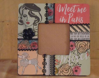 Meet Me In Paris French Decoupaged Picture Frame