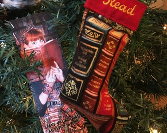 Books Stocking Ornament