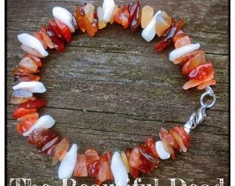 Amber and Feline Bone Bracelet